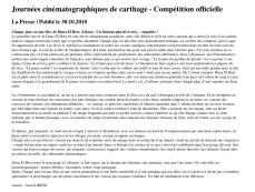 Journées cinématographiques de carthage - Compétition officielle
