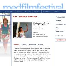 MedFilm Festival 2010   Film   What's going on
